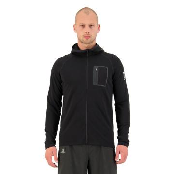 Mons Royale Men's Traverse Midi Full Zip Hood - Black