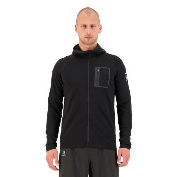 Mons Royale Men's Traverse Midi Full Zip Hood - Black