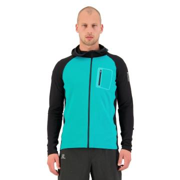 Mons Royale Men's Traverse Midi Full Zip Hood - Marina/Black