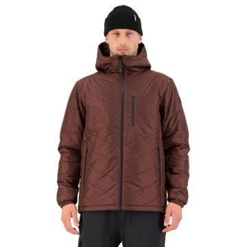 Mons Royale Men's Nordkette Insulation Hooded Jacket - Cocoa
