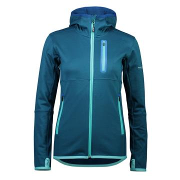 Mons Royale Women's Approach Tech Mid Hoodie - Oily Blue