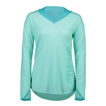 Mons Royale Women's MTN X Hoodie - Tropic/Peppermint