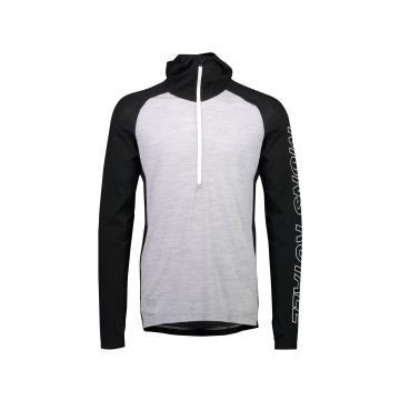 Mons Royale Men's Temple Tech Hoodie - Black/Grey Marl