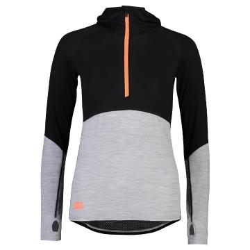 Mons Royale Women's Bella Tech Hood - Black/Neon