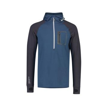 Mons Royale Men Traverse Midi Half Zip Hood - Atlantic/9 Iron