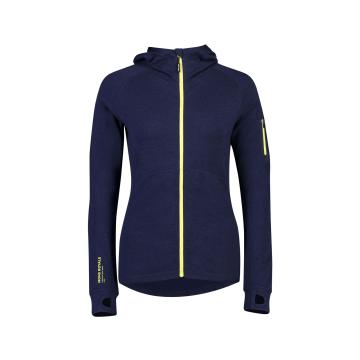 Mons Royale Women's Ascend Midi Full Zip Hood - Navy