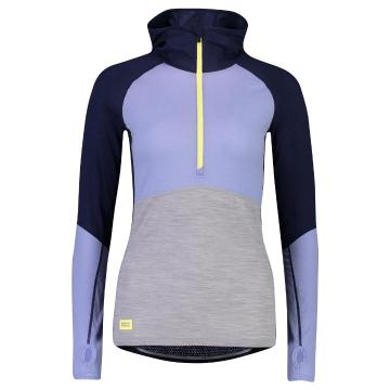 Mons Royale Women's Bella Tech Hood - Navy/Blue Fog/Grey Marl