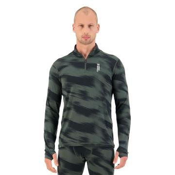 Mons Royale Men's Cascade Merino Flex 200 1/4 Zip - Rosin Motion