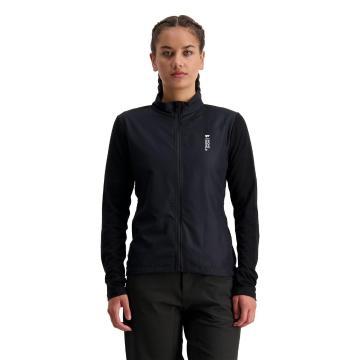 Mons Royale Women's Redwood Full Zip Wind Jersey - Black
