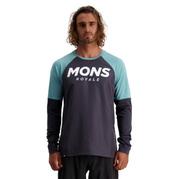 Mons Royale Men's Tarn Freeride Long Sleeve Wind Jersey - 9 Iron/Sage