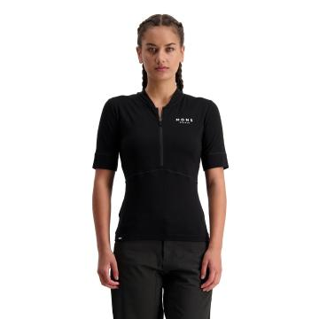 Mons Royale Women's Cadence Half Zip  - Black