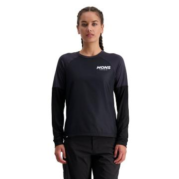 Mons Royale Women's Tarn Freeride Long Sleeve Wind Jersey - Black