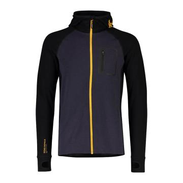 Mons Royale Men's Traverse Midi Full Zip Hood - 9 Iron/Gold