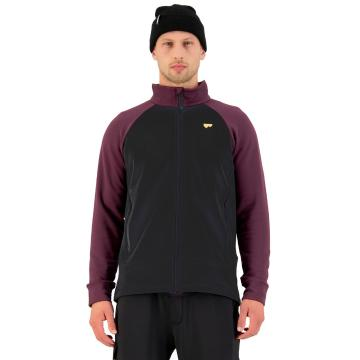 Mons Royale Men's Nevis Wool Fleece Jacket - Wine/Black