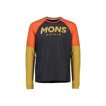 Mons Royale Men's Tarn Freeride Long Sleeve Wind Jersey - Desert Alchemy