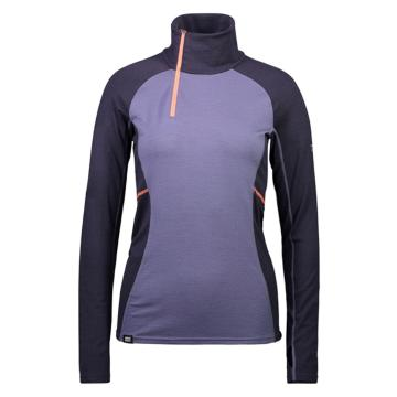 Mons Royale Women's Olympus 3.0 Half Zip Top - Iron/Stone