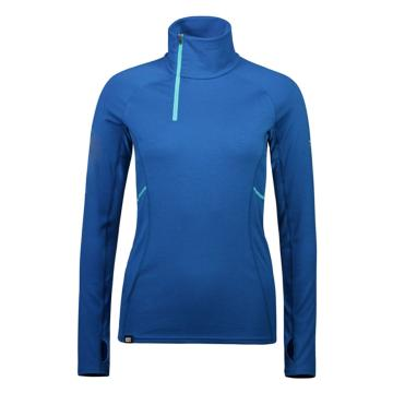 Mons Royale Women's Olympus 3.0 Half Zip Top - Oily Blue