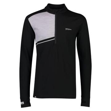 Mons Royale Men's Alta Tech Half Zip - Black/Grey Marl