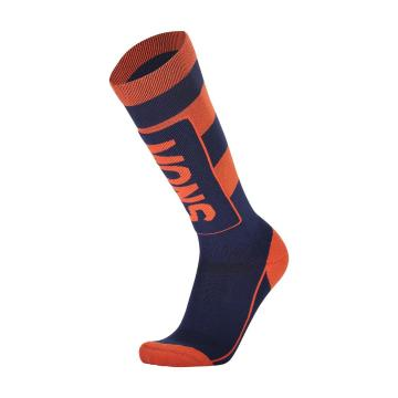Mons Royale Men's Tech Cushion Socks - Navy/Orange Smash
