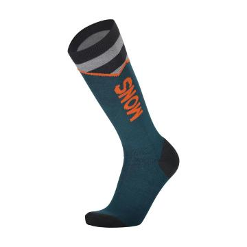 Mons Royale Men's Lift Access Socks - Atlantic/Orange Smash