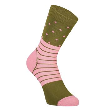 Mons Royale Women's All Rounder Crew Sock Spots - Khaki Rose