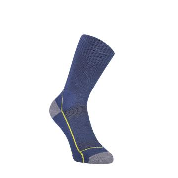 "Mons Royale Women's MTB 9"" Tech Sock Up Down - Ink Stripe/Lemon"