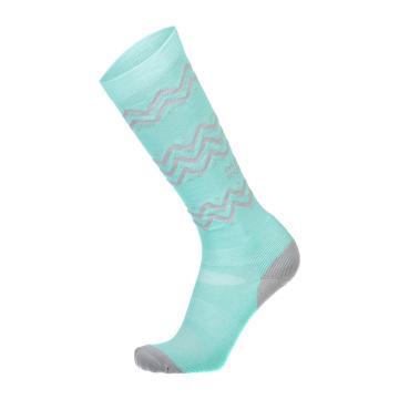 Mons Royale Women's Lift Access Socks - Grey Marl/Pmint