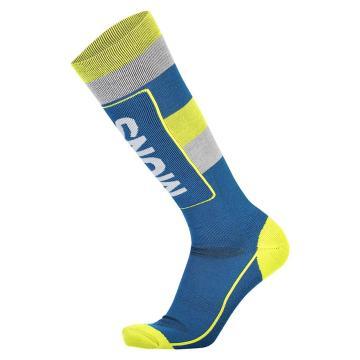 Mons Royale Men's Tech Cushion Socks - Oily Blue/Grey/Citrus