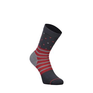Mons Royale Women's All Rounder Crew Sock - Poppy/Charcoal