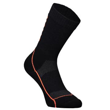 "Mons Royale Women's MTB 9"" Tech Sock - Black/Neon"