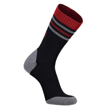 Mons Royale Men's Signature Crew Sock - Bright Red/Iron