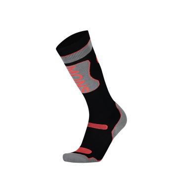 Mons Royale Women's Pro Lite Tech Sock - Black/Neon