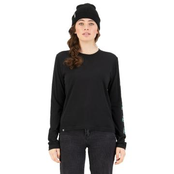 Mons Royale Women's Icon Relaxed Long Sleeve - Black