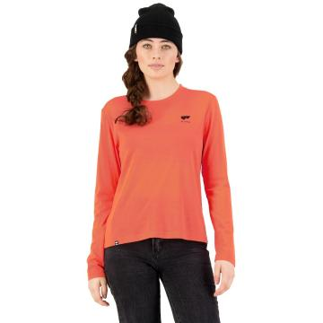 Mons Royale Women's Icon Relaxed Long Sleeve - Hot Coral