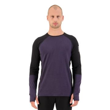 Mons Royale Men's Olympus 3.0 Long Sleeve - Black/9 Iron