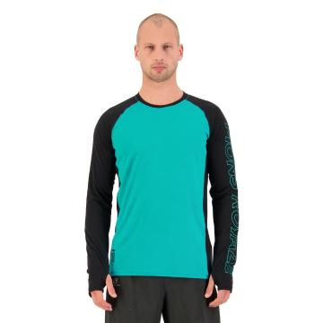 Mons Royale Men's Temple Tech Long Sleeve - Marina/Black