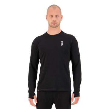 Mons Royale Men's Cascade Merino Flex 200 Long Sleeve - Black