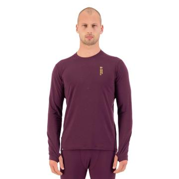 Mons Royale Men's Cascade Merino Flex 200 Long Sleeve - Wine