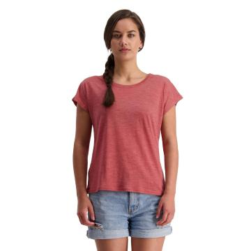 Mons Royale Women's Estelle Cap Tee  - Terracotta