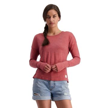 Mons Royale Women's Estelle Relaxed Long Sleeve - Terracotta
