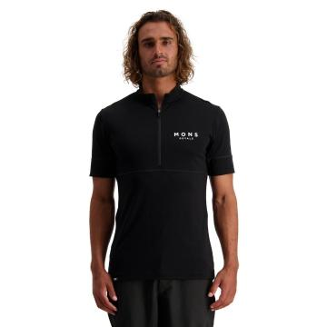 Mons Royale Men's Cadence Half Zip Tee