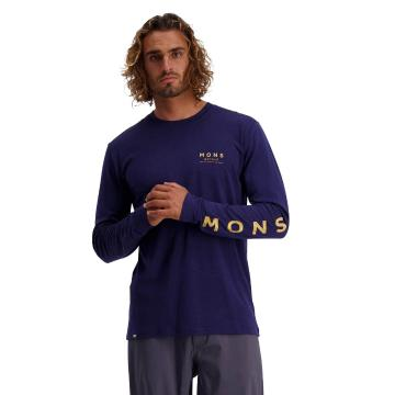 Mons Royale Men's Icon Long Sleeve - Navy