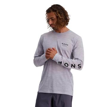 Mons Royale Men's Icon Long Sleeve - Grey Marl