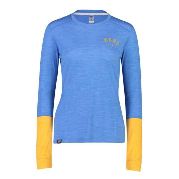 Mons Royale Women's Vapour Long Sleeve Varsity - Rebel Blue