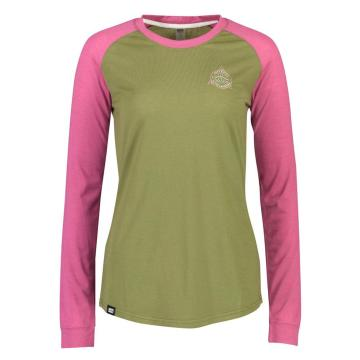 Mons Royale Women's Icon Raglan Long Sleeve Alpine - Khaki Rose