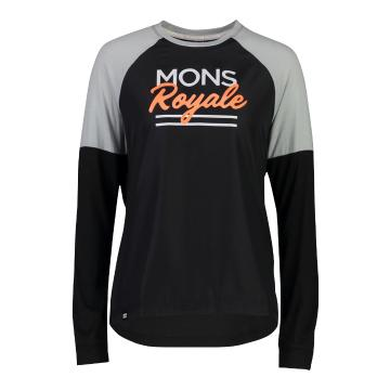 Mons Royale Women's Tarn Long Sleeve Wind Jersey - Black/Grey