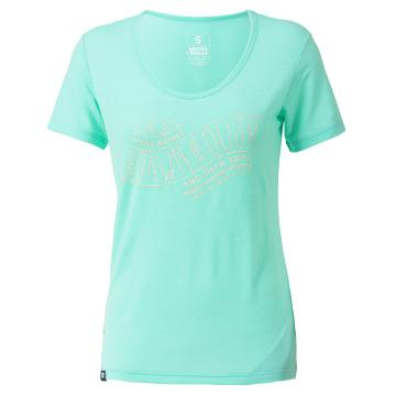 Mons Royale Women's Merino Charlie Scoop D to D Tee - Peppermint