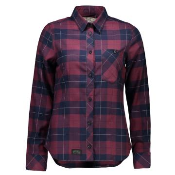 Mons Royale Women's Merino Jackson Flannel Long Sleeve Button Up Shirt