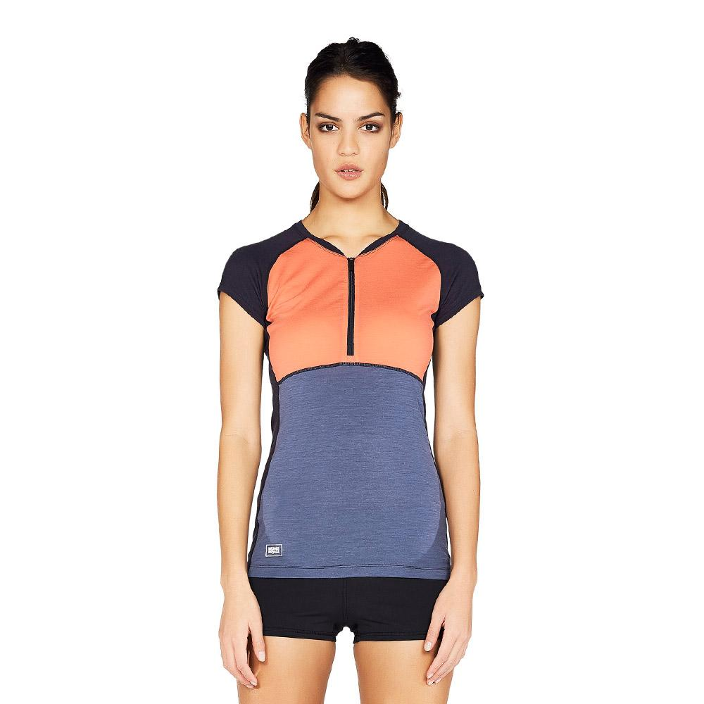 3c092ad092f4d Mons Royale Women s Bella Zip Tech Merino Tee