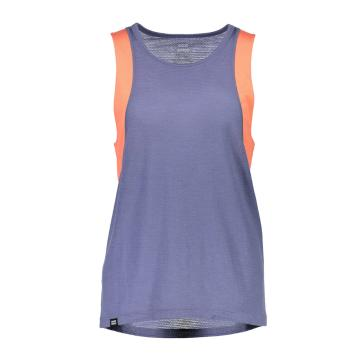 Mons Royale Women's Kasey Relaxed Tank - Mesh - Coral/Stone